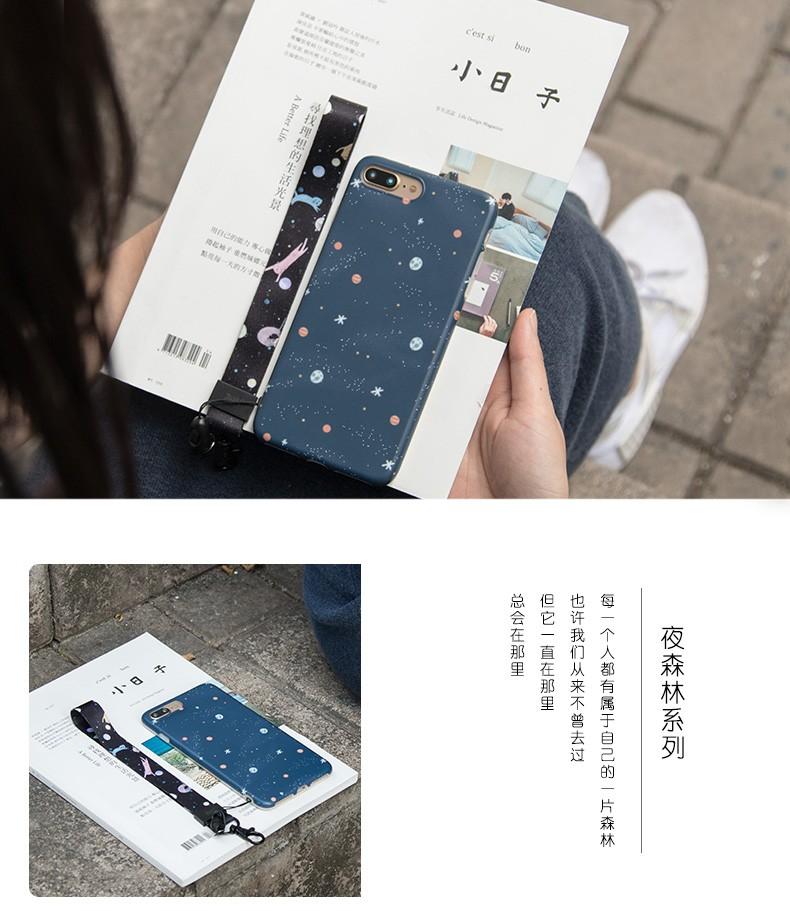 夜森林系列手機掛繩-太空喵( 20 X445mm )